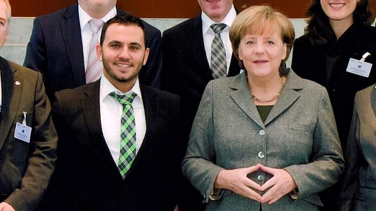Ibrahim Ismail trifft Bundeskanzlerin Merkel